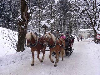Kurzreisen Deutschland Garmisch Partenkirchen Bayern Winterlandschft Kutschenfahrt