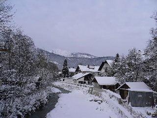 Kurzreisen Deutschland Garmisch Partenkirchen Bayern Winterlandschft Flusslandschft